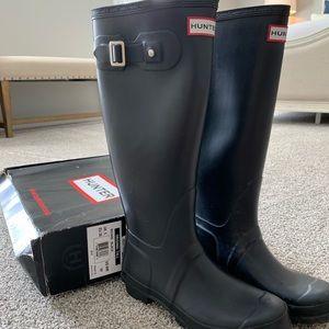 Hunter Boots Tall Black Sz 7